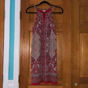 Max Studio Red Printed Dress